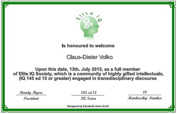 Claus D  Volko